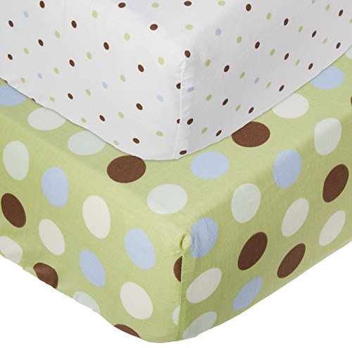 Little Bedding by NoJo 2 Piece Jungle Pals Crib Sheets