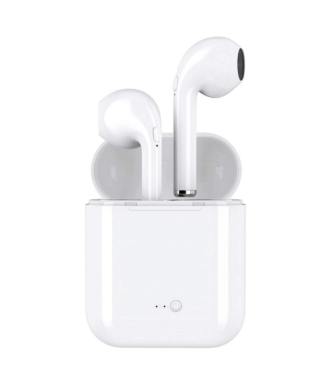 TJSDAN Bluetooth Headset, Wireless Headset Sports Headset in-Ear Headphones Noise Reduction Headset Mini Headset, HiFi Headset with Microphone, Compatible with Smart Phone
