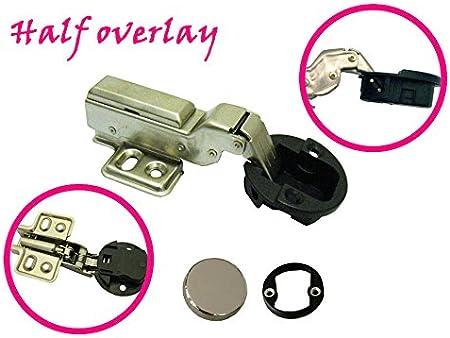 "Dia 1.5/"" 35mm EU Hydraulic soft close Half Overlay Hinge for Cabinet Glass door"