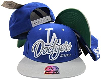 Los Angeles Dodgers Royal Two Tone Plastic Snapback Adjustable Plastic Snap Back Hat / Cap