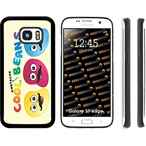 Rikki Knight Cool Beans Mustache Design Samsung Galaxy S7 Edge Case Cover (Black Rubber with front Bumper Protection Sales