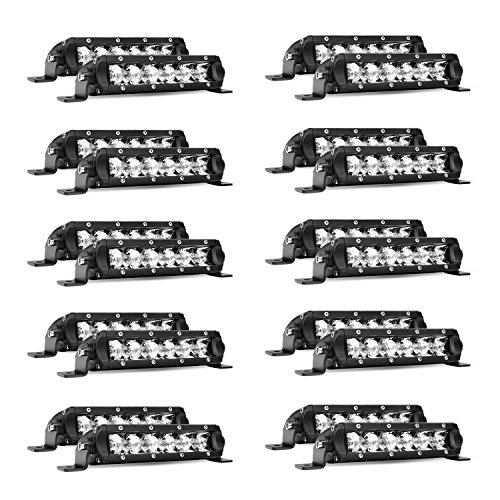 Led Light Bar Nilight Super Slim 20PCS 7Inch 30W Spot Drivin