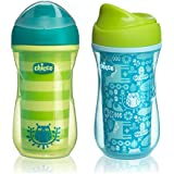 Chicco NaturalFit Insulated Rim Spout Trainer Sippy Cup, in Assorted Colors, 9 Ounce, 2 Count