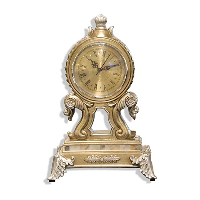 Amazon.com : Family Fireplace Watches Retro European Table Clock, Ornaments not met á LICOs Desk Watch Decorative Bedroom Suitable for Living Room Office ...