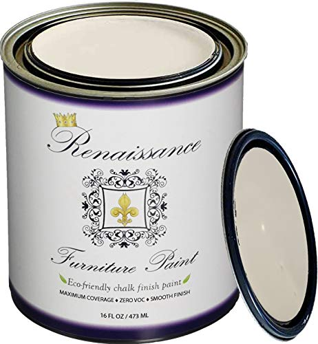(Retique It It by by Renaissance RFP-P16-IvoryTower Furniture Paint, 16 oz (Pint), Ivory Tower 02 - Antique White)