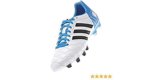 Bota de fútbol adidas adipure 11Pro TRX FG Blanca-Solar blue