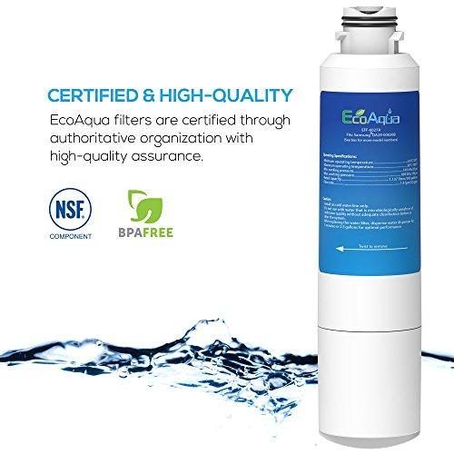EcoAqua DA29-00020B Replacement for Samsung Water Filter DA29-00020B, DA29-00020A, HAF-CIN/EXP, EFF-6027A, 46-9101 Refrigerator Water Filter, 3 Pack