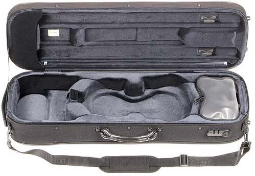 Bam Stylus 5001S 4/4 Violin Case with Black Exterior and Silver Interior by Bam France