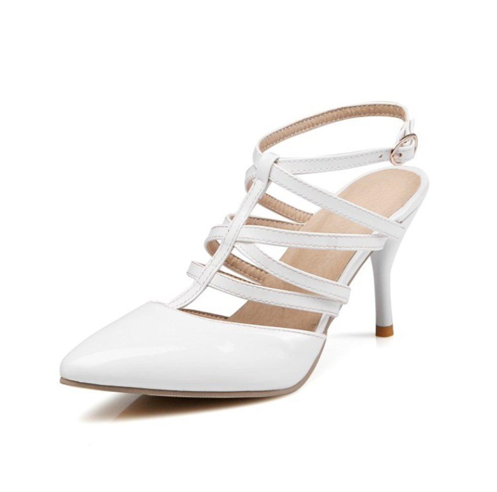 mogeek Femme 11614 B0079X88PA Eté Hauts Sandales à Talons Boucle Sandales Bride Cheville Talons Hauts Chaussures Blanc 9d5d0f7 - robotanarchy.space