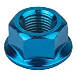 Image of Black Ops Cr-Mo BMX Axle Nuts, 3/8 x 26, Blue