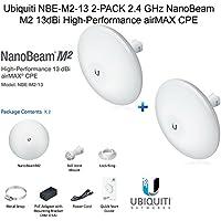 Ubiquiti NBE-M2-13 2-PACK 2.4 GHz NanoBeam M2 13dBi High-Performance airMAX CPE