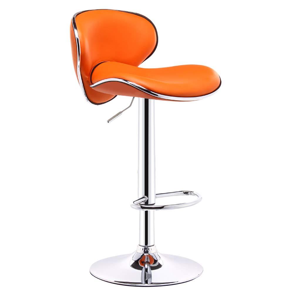 CAIJUN カウンターチェア 多機能 厚い PUファブリック 背もたれ付き 高さ調節可能 360°回転 アセンブリ 余暇、 9色 Dual-use (色 : Orange, サイズ さいず : 46x77cm) B07KV1GM4V Orange 46x77cm