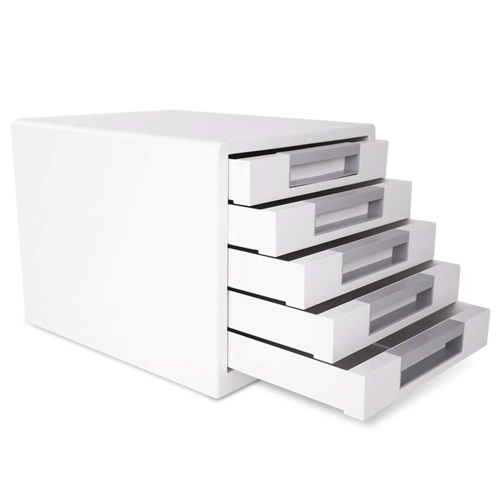 Flat File Cabinets File Cabinet Desktop Five-Layer Storage File Cabinet White Drawer Type A4 Data Cabinet Storage Box Office Supplies Plastic File Cabinet Lateral File Cabinets by Vertical File Cabinets