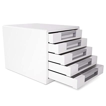 Superbe Flat File Cabinets File Cabinet Desktop Five Layer Storage File Cabinet  White Drawer Type A4