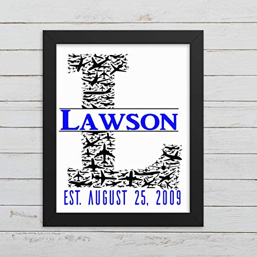 Last Name Personalized Air Force Wall Decor