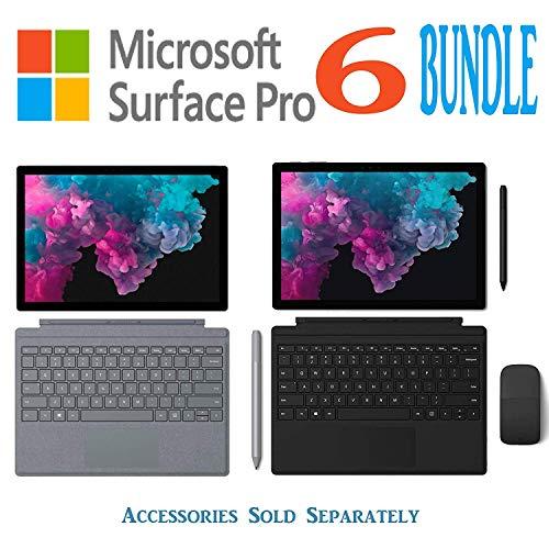 Newest Model Microsoft Surface Pro 6 Bundle 12.3 Inch PixelSense Touchscreen Tablet PC Intel Quad Core i5-8250U (Beat i7-7500U) 128GB/256GB SSD HDMI WiFi Windows 10