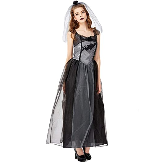 TIANFUSW Halloween Disfraz Novia Cadáver Mujer Adulto, Disfraz De ...