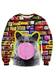 Cutiefox Relax Fit Printed Autumn Sweatshirts Tracksuits Hoody Size XL