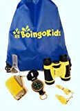 Children's Outdoor Exploration Kit- Binoculars, Lensatic Compass, Flashlight, Magnifying Glass, Whistle and Backpack! Great for Backyard, Camping, Hiking, Birdwatching! Educational and Fun!