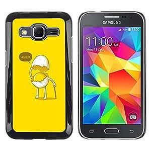 Be Good Phone Accessory // Dura Cáscara cubierta Protectora Caso Carcasa Funda de Protección para Samsung Galaxy Core Prime SM-G360 // Funny Egg Gentleman
