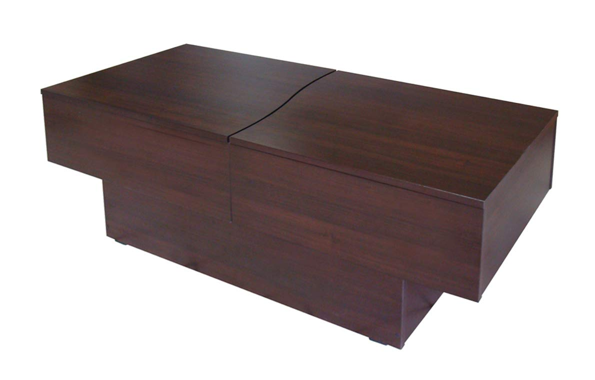 site réputé d939f 60b16 Berlioz Creations City Box Table Basse Wengé 123 x 51 x 43 cm