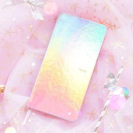 CXYBJB Cuaderno Colorido Sueño Láser Bullet Journal Cute ...