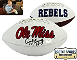 Archie Manning Autographed/Signed Ole Miss Rebels Embroidered Logo NCAA Football