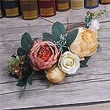 Flower Crown Women Girl Head Rose Flower Wreath Bridal Hair Accessories Wedding Headband Kid Party Floral Garlands Adjustable Red