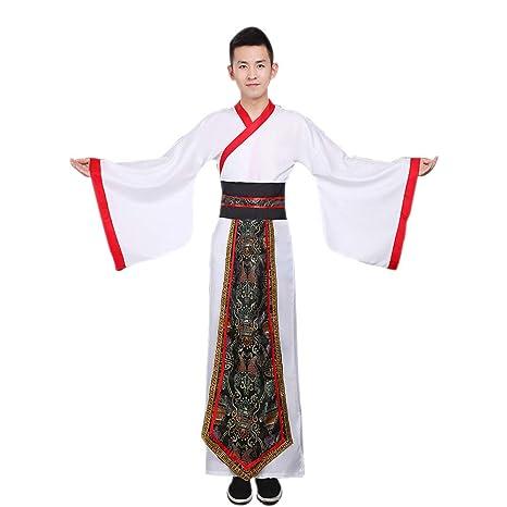 ZEVONDA Hombre Clásico Hanfu Estilo Chino Traje Antiguo Tradicional Tang Traje Ministro Cosplay Actuaciones Disfraz