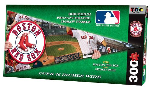 tdc-games-mlb-pennant-shaped-puzzle-boston-red-sox-300-pc