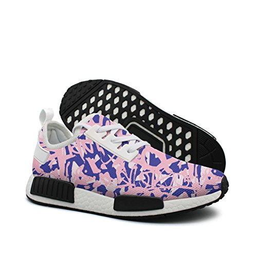 d85c370b0f4 ktyyuwwww Woman Colorful Top Purple and Pink Pink Pink Easy Graffiti Unique  Design Running Shoes B07D8VXYYL
