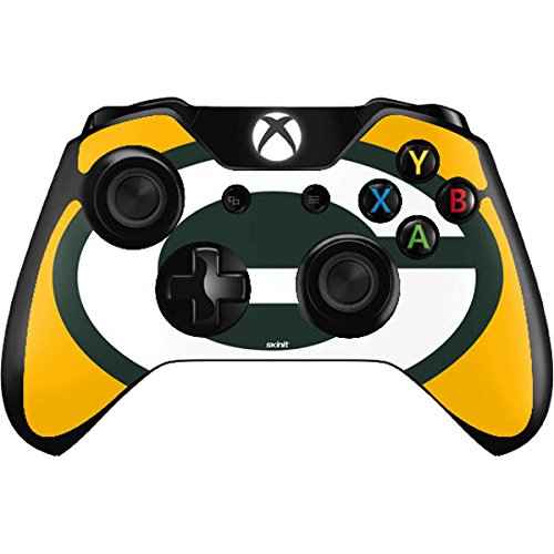 Skinit NFL Green Bay Packers Xbox One Controller Skin - Green Bay Packers Large Logo Design - Ultra Thin, Lightweight Vinyl Decal Protection by Skinit