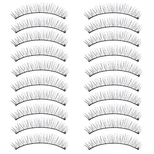 Voberry® Women Gril Lady Big Sale! 10 Pairs/box Makeup Extension False Eyelashes