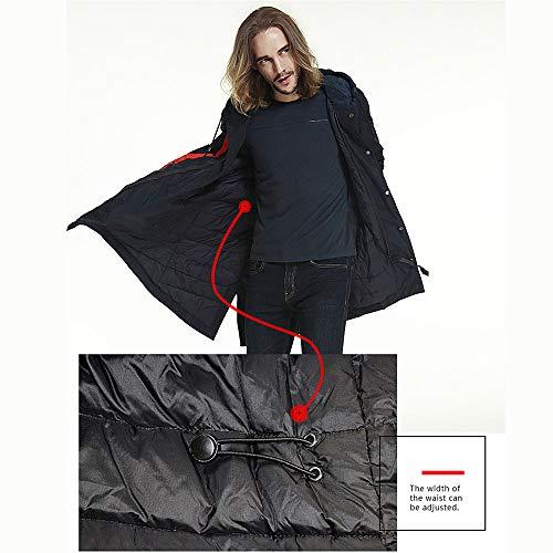 Ideal Encapuchado Casual De Frío para Abajo Calentar L Clima Chaquetas Invierno Moda Chaqueta Abrigo WUYEA En Hombres qz7fU