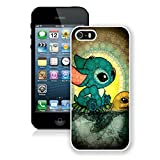 img - for Iphone5 Case,fashion Print Plastic Back Skin Shell Case [Scratch-resistant] [Perfect Fit] [Anti-slip] [Good Grip] Hard Back Cover for Iphone 5 (Animal) (Stitch and Turtle-white) book / textbook / text book