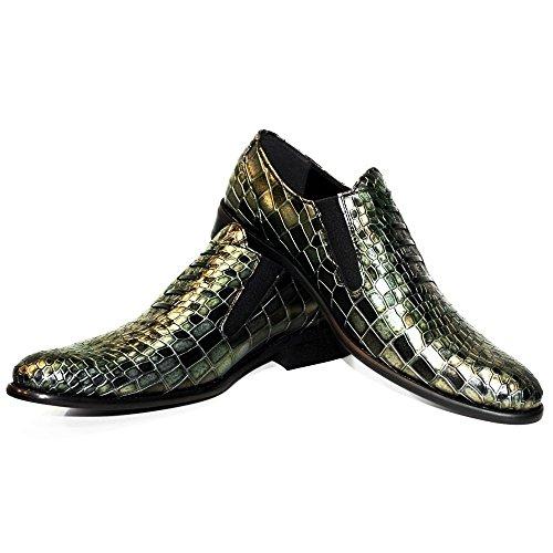 Schlüpfen und Leder Herren Gold Müßiggänger Slip Weiches Handgemachtes Leder Mokassins Modello Rindsleder Ons Cobro Italienisch PeppeShoes WHcw6fZzqw