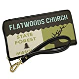 Wallet Clutch National US Forest Flatwoods Church State Forest with Removable Wristlet Strap Neonblond