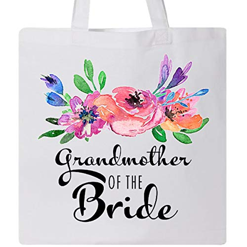 Inktastic - Grandmother of the Bride with bouquet Tote Bag White 331d5