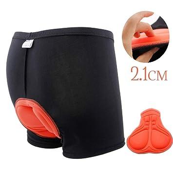 PANENDIANO Pantalones Cortos de la Bicicleta Ciclismo Ropa Interior 3D Relleno Antideslizante Diseño Transpirable y adsorbente