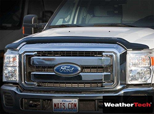 Weathertech (WEA103690-HR) Stone And Bug Deflector Visor Rainguard Dark Smoke - fits Nissan Frontier - 2007 2008 2009 2010 2011 2012 2013 2014 2015 2016 2017 | 07 08 09 10 11 12 13 14 15 16 17 ()