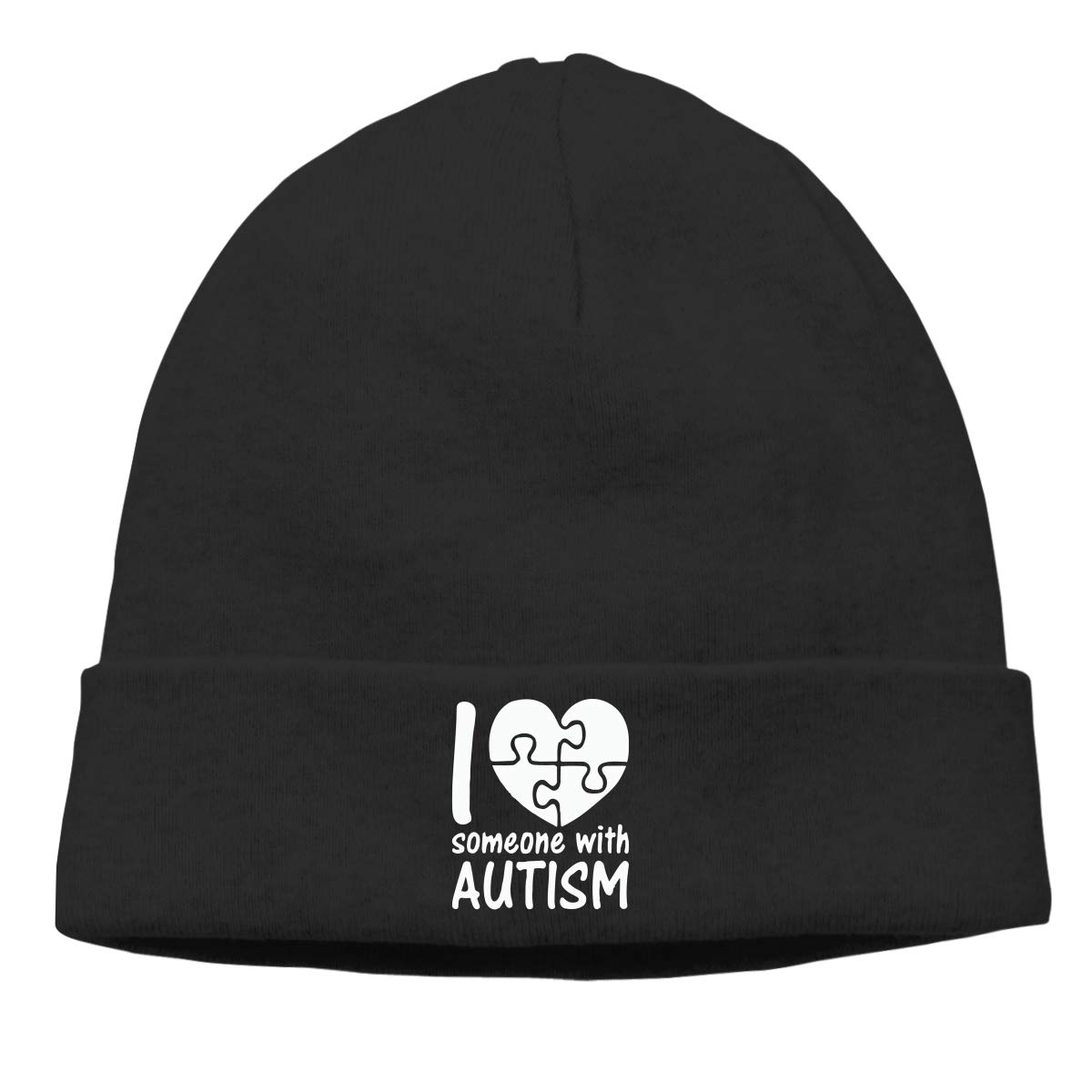 Unisex I Love Someone with Autism Soft Knit Caps