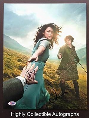 Caitriona Balfe & Sam Heughan Signed 11X14 Photo Coa Cast Outlander -