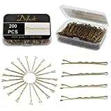 Dofash 200PCS Metal Bobby Pins Black Hair Clips grips with box for Hair