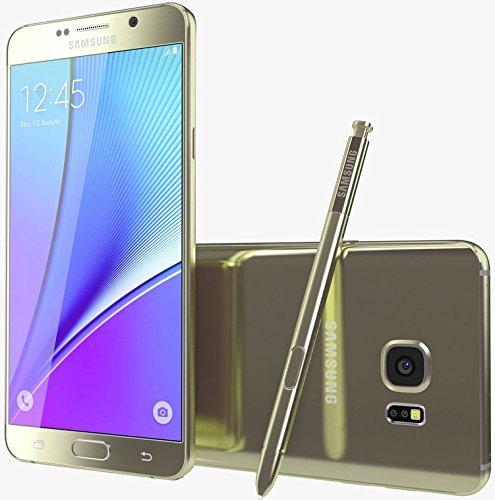 Samsung Galaxy Note 5 SM-N9208 32GB 5.7-inch 4G LTE Dual SIM FACTORY UNLOCKED - International Stock No Warranty (GOLD)