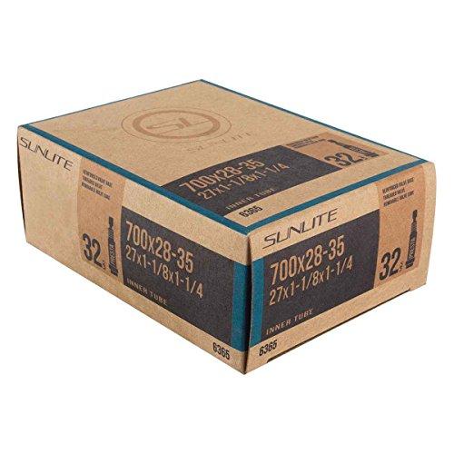 Sunlite Standard Presta Valve Tubes, 700 x 28 - 35 (27 x 1.125 - 1.25