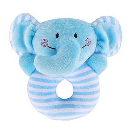 Bebé Sonajero Suave Juguetes Infantiles Handbell Lindo Elefante Animal de Dibujos Animados Niño Niña Campana Mano Niño Bebé Peluches Regalos para ...