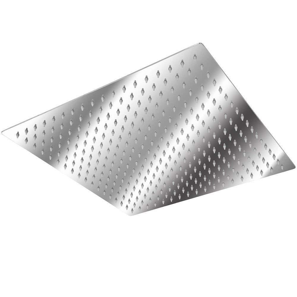 20 Pulgadas Aufun Alcachofa de Ducha Cuadrada 50 cm Moderna Cabezal de Ducha Acero Inoxidable Ducha de lluvia Placa de Ducha boquillas antical lluvia pulida para Ba/ño