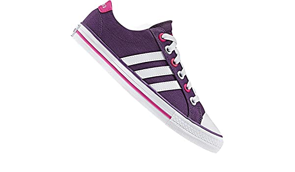 Adidas Neo Label Lona Vl 3 Rayas Zapatillas Lifestyle Zapatos Rosa Púrpura Blanco - Lila, Morado, 37 1/3