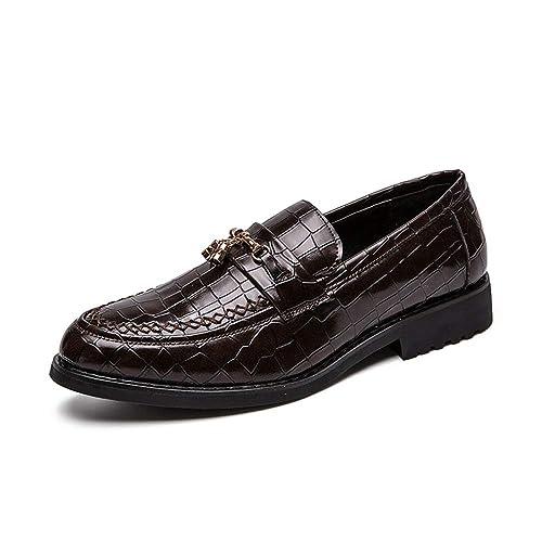 Apragaz Mocasines Noble Vintage de Terciopelo Bordado de Metal para Hombre Fumar en El Holgazán Zapatilla de La Borla del Holgazán: Amazon.es: Zapatos y ...
