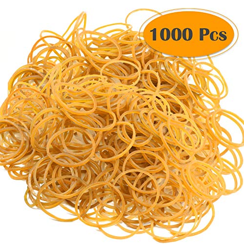 Selizo 1000Pcs Elastic Bands Small Rubber Bands Assorted for Office Bank Home and Various Purpose